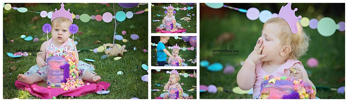 Libby's Cake Smash and Paint Splash Serene Bedlam Photography