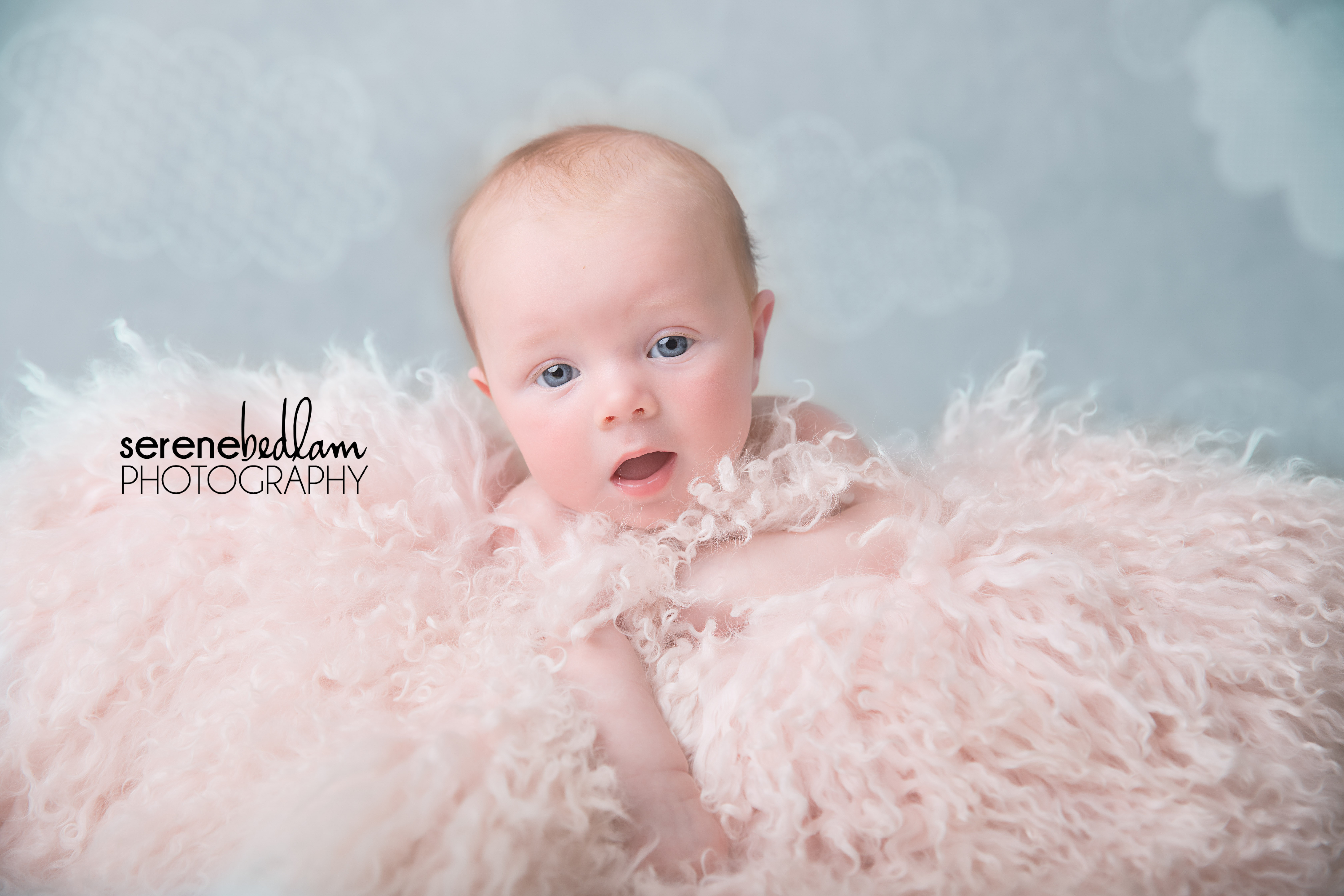 Serene Bedlam Newman 3 month milestone photography Milla