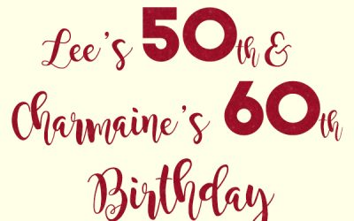Lee & Charmaine's Milestone Birthday Photo Booth