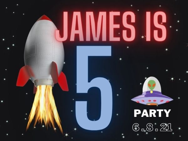 James is 5 – Kids Photo Booth