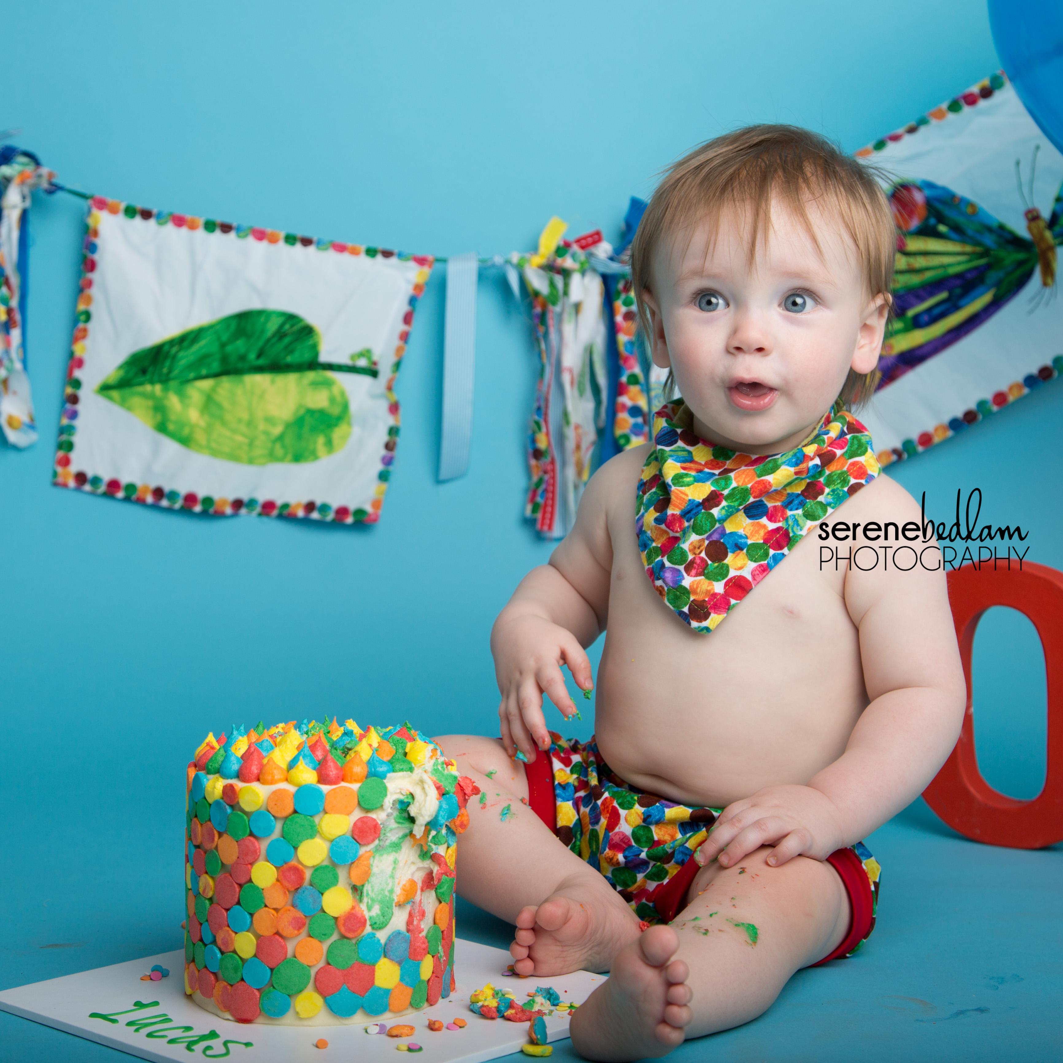 cake smash photography lucas